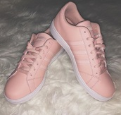 shoes,adidas,rose gold,sneakers