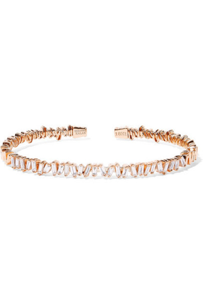 Suzanne Kalan - 18-karat Rose Gold Diamond Cuff