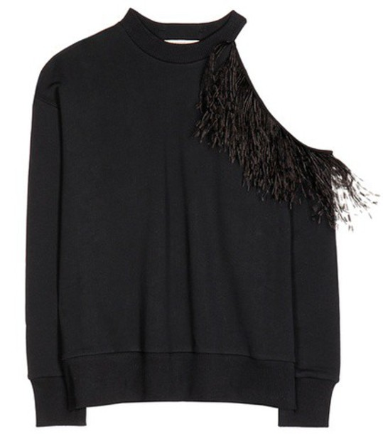 CHRISTOPHER KANE sweatshirt cotton black sweater