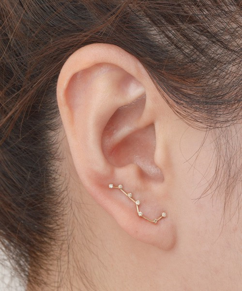 Handmade 925 Silver And Gold-plated Big Dipper Earrings - Wishbop.com