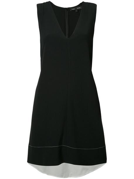 Proenza Schouler dress shift dress women black silk