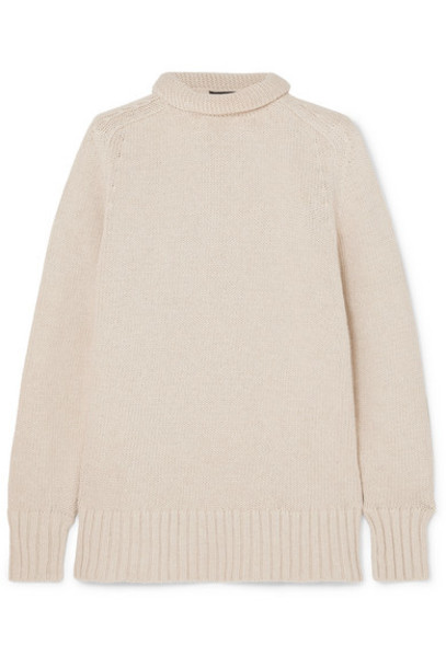 Joseph - Sloppy Joe Cotton-bend Turtleneck Sweater - Ecru