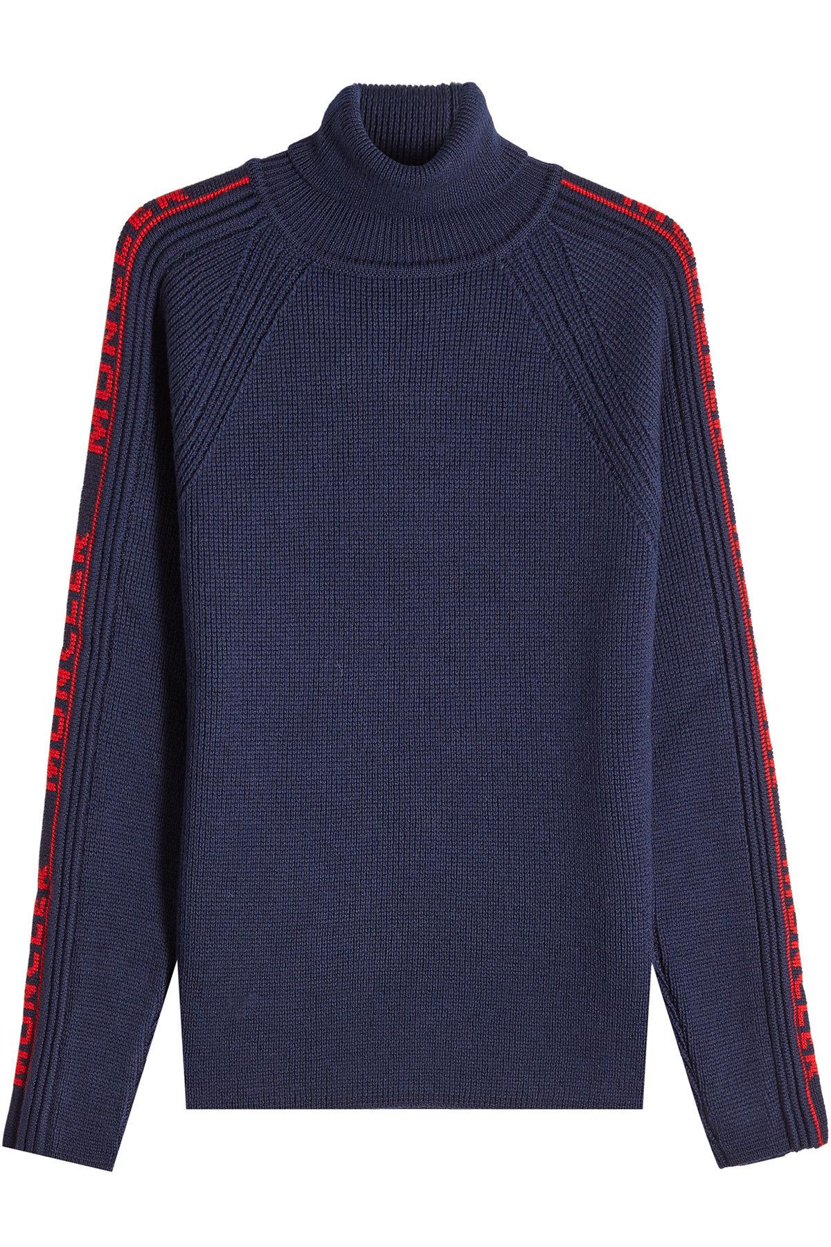 Wool Turtleneck Pullover - Moncler | WOMEN | US STYLEBOP.COM