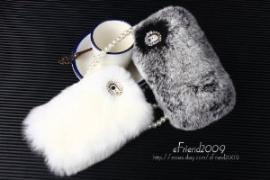 Amazon.com: extreme deluxe luxury bling warm soft beaver rabbit fur hair back case cover for apple iphone 5 5s (gray): cell phones & accessories