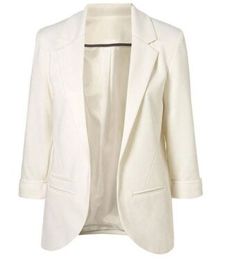 jacket white blazer double breasted blazer slim cut blazer lined blazer www.ustrendy.com