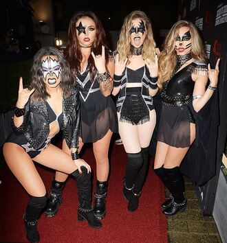 dress costume underwear little mix perrie edwards leigh-anne pinnock halloween halloween costume halloween makeup halloween accessory jade thirlwall jesy nelson celebrity halloween costume