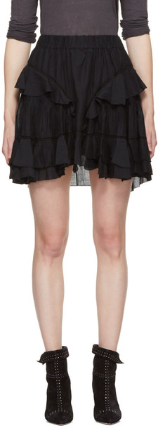 Isabel Marant etoile miniskirt black skirt