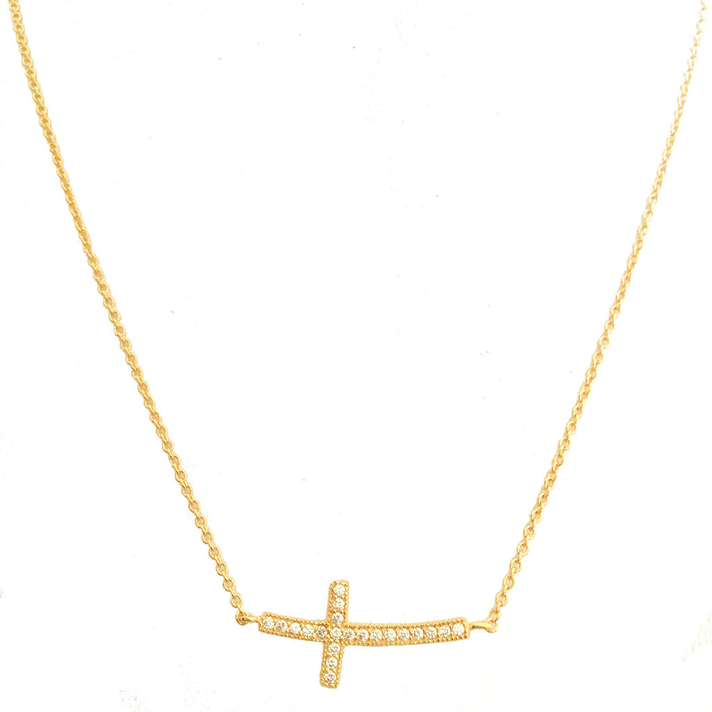 Sideways cross necklace – clashd.com