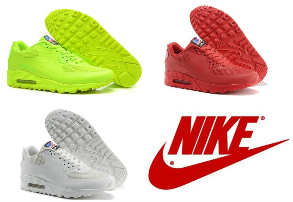 New Arrived Nike Men Air Max 90 Hyperfuse HYP Running Shoes,Fashion Brand Men's Sport Athletic Walking Shoes,Size 40 45,Red Blue-in Men's Shoes from Shoes on Aliexpress.com