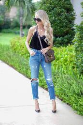 aspoonfulofstyle,blogger,tank top,top,jeans,shoes,high heel pumps,fall outfits,louis vuitton bag,camisole