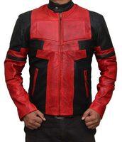jacket,deadpool jacket,ryan reynolds deadpool jacket,deadpool leather jacket