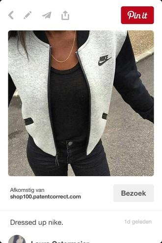 jacket black nike grey