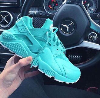 shoes blue nike huarache turquoise basket summer