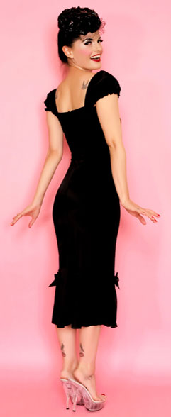 Best seller! lolita girl classic black vogue dress