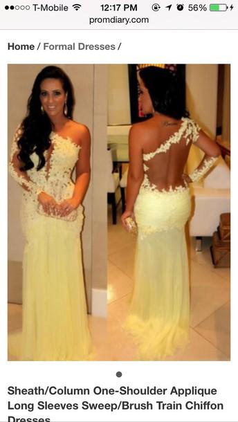 dress yellow prom dresses yellow dress prom dress one shoulder