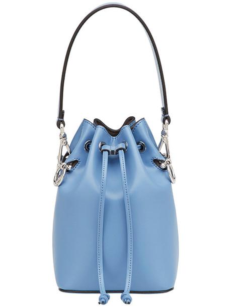 mini women bag mini bag leather blue