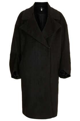 Oversized Textured Throw Coat - Topshop