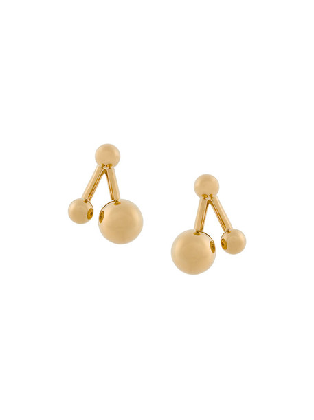 Chloe women ball earrings stud earrings grey metallic jewels