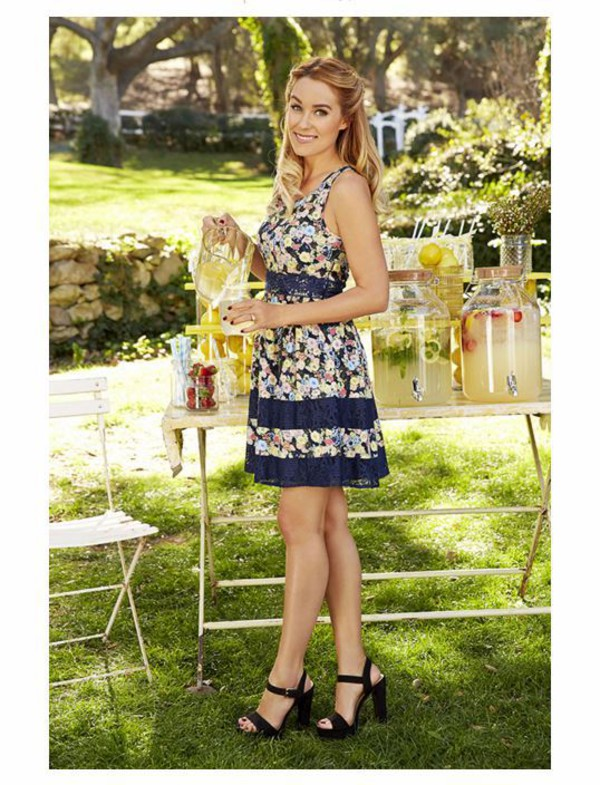 Lc lauren conrad black lace dress