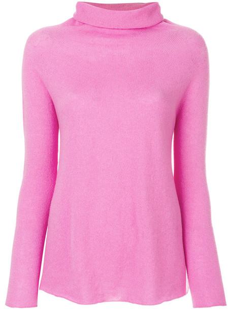 sweater turtleneck turtleneck sweater women purple pink
