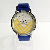 jewels,watch,handmade,style,fashion,vintage,etsy,freeforme,summer,spring,gift ideas,new,love,hot,trendy,fall outfits,chevron,polka dots,yellow,blue,white