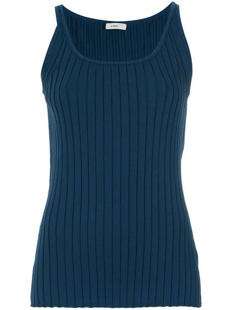 EGREY tank top top women blue