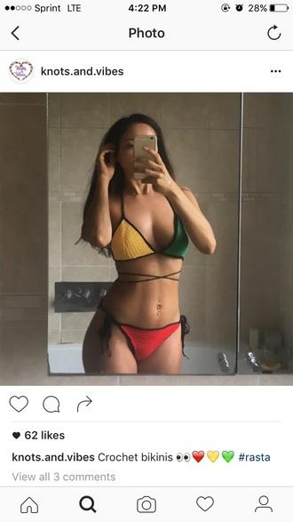 swimwear rasta bikini