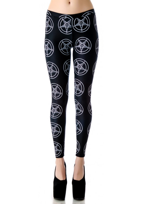 Tentacle Threads Baphomet Pentagram Leggings | Dolls Kill