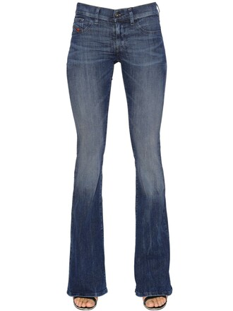 jeans denim flare cotton blue