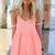 Coral Jump Suits/Rompers - Neon Coral Playsuit with V-Neck | UsTrendy
