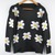 Lady Sun Flowers Daisies Sunflower Pullover Jumper Sweater Knitwear Coat Tops | eBay