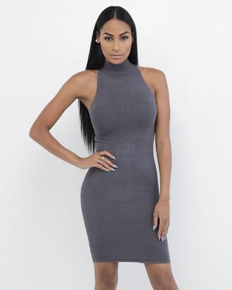 dress grey grey dress bodycon bodycon dress ribbed dress