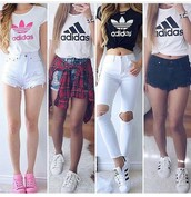 jeans,pants,skinny pants,white pants,high waisted pants,ripped jeans,skinny jeans,high waisted jeans,white jeans,white ripped jeans,outfit,outfit idea,summer outfits,cute outfits,spring outfits,party outfits,trendy,fashion,stylish,style,clothes,clubwear,streetstyle,streetwear,shorts,High waisted shorts,denim shorts,summer shorts,distressed denim shorts,high waisted denim shorts,ripped shorts,black shorts,white shorts,shoes,summer shoes,cute shoes,pink shoes,white shoes,white sneakers,sneakers,low top sneakers,adidas,adidas shoes,adidas superstars,adidas originals,adidas shirt,adidas crop top,white t-shirt,white crop tops,white top,white shirt,black top,black and white,black crop top,black t-shirt,black shirt,top,summer top,cute top,crop tops