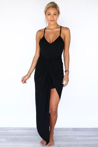 Love indie knots asymetrical maxi dress