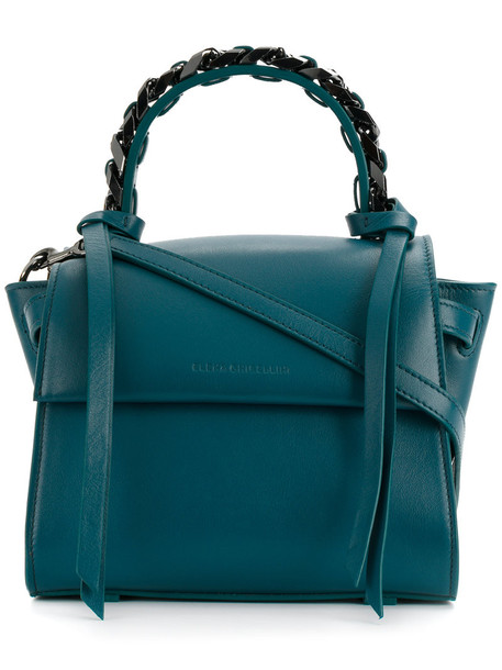 Elena Ghisellini women embellished leather blue bag