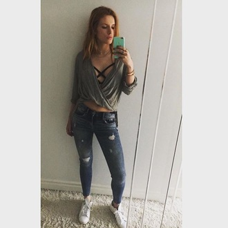 shirt green army green khaki top light jeans jeans pants baggy shirts bella thorne ripped jeans