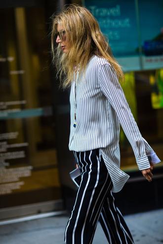 shirt tumblr stripes striped shirt pants striped pants