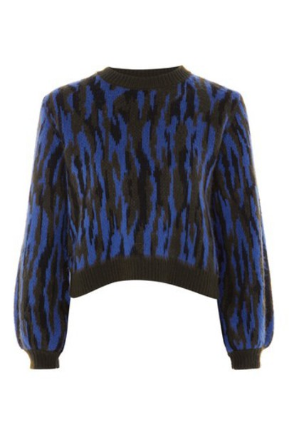 Topshop jumper zebra print khaki zebra print sweater