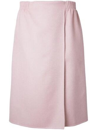 skirt wrap skirt women silk wool purple pink