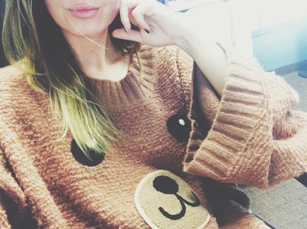 sweater pullover bear brown cute bear