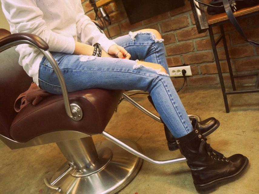 Shredded Skinny Jeans - Nerdy Youth