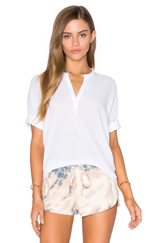 blouse short white top