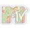 """mtv logo - pastel flowers"