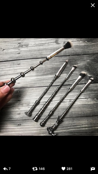 make-up brushes harry potter wands wizard