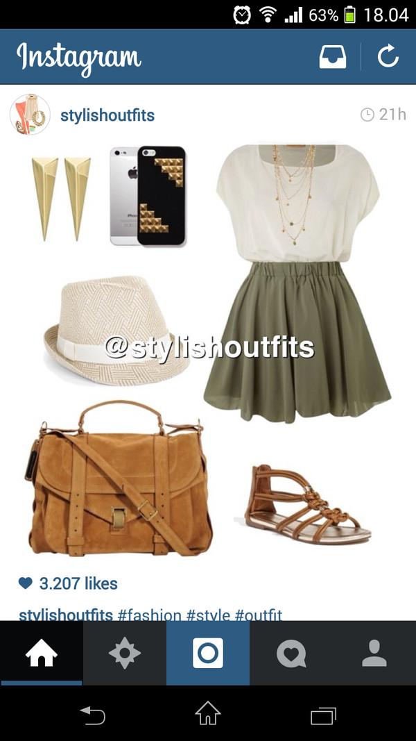 bag purse boho skirt high waisted denim shorts retro indie ...