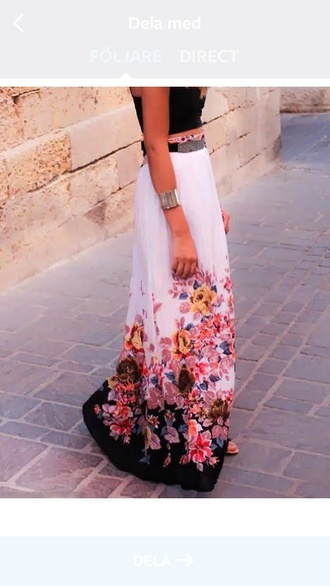 skirt beautiful amazing lovely lovely pepa cute girly girl summer inspo fashion inspo fashion style stylish maxi skirt summer chic flowers fabulous love