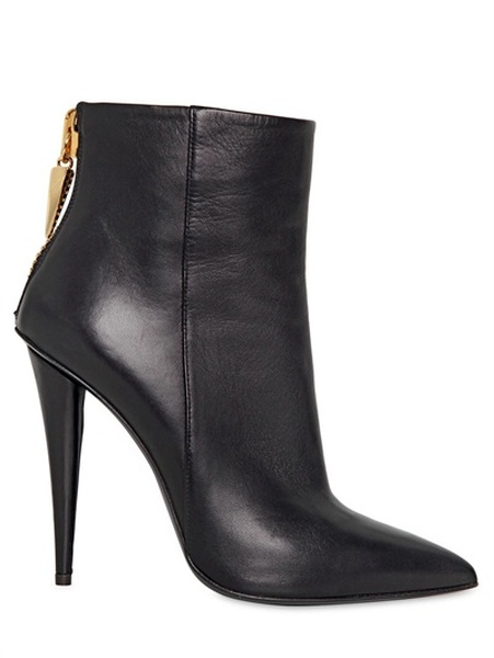 Heels Giuseppe Zanotti Pointed Zipper Back 110mm Black Leather ...