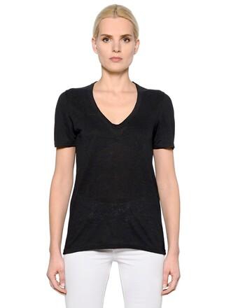 t-shirt shirt v neck black top