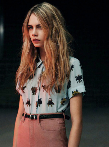 cara delevingne model blouse where to get blouse? female model victoria's secret model shirt cara highwaisted shorts