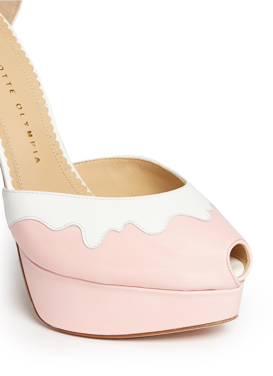 CHARLOTTE OLYMPIA - Ice Cream peep-toe platform pumps  | Multi-colour Platform High Heels | Womenswear | Lane Crawford - Shop Designer Brands Online